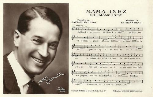 Chevalier sings Mama Inez