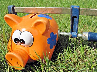 Piggy Bank with a clamp on it. | by Images_of_Money