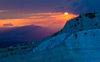 Sunset in Pamukkale, Turkey | by eleephotography
