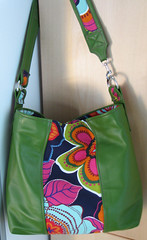 green leather bag hanging | by splatgirl
