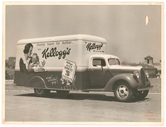 Kellogg's van for A.H. Peters & Co. at Sydney University / Milton Kent | by State Library of New South Wales collection