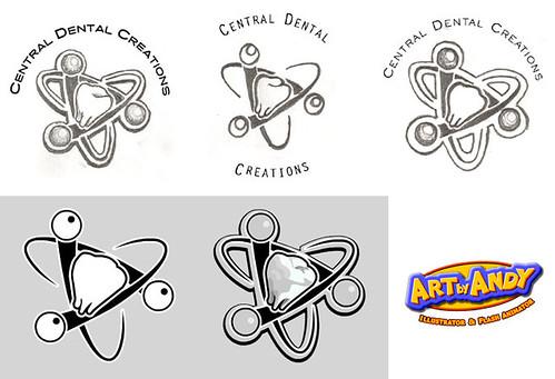 Central Dental Creations Logo Designs Andy Bauer Flickr