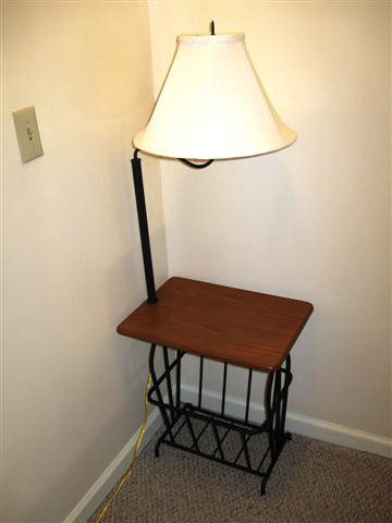 Small Table Nightstand With Lamp And Magazine Rack Flickr
