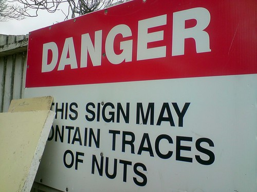 DANGER: this sign may contain traces of nuts | by Simon Lieschke