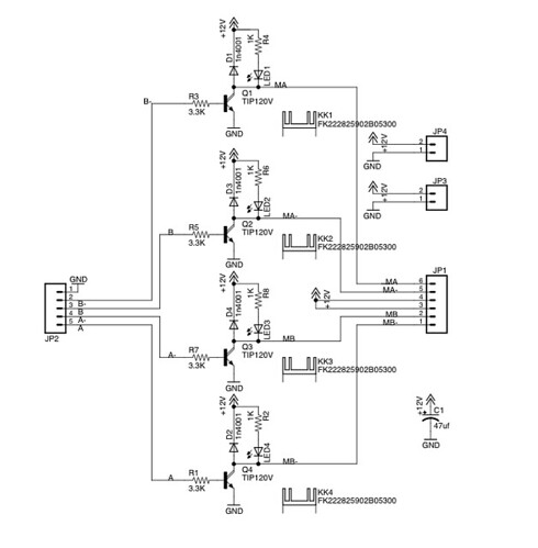 unipolar stepper motor circuit