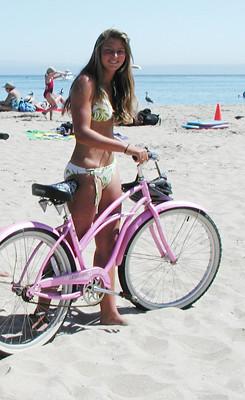 In girl bike bikini