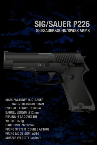 IPod Touch Wallpaper 320x480px SIG SAUER P226