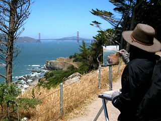 Painting Lands End And The Entrance To San Francisco Bay W