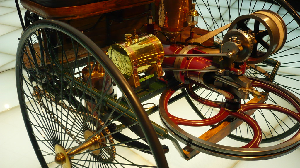 Patent-Motorwagen = the first motorcar, akaTricycle Benz 1… | Flickr