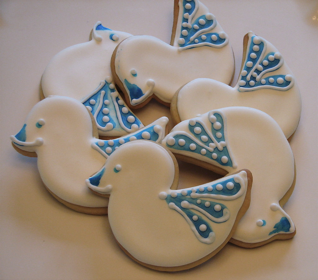 Delft Tile-inspired Baby Duckie Cookies   Hand-painted baby …   Flickr