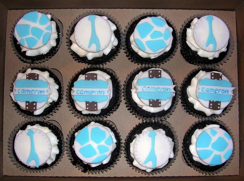 Blue Safari Baby Shower Part - 48: ... Blue Safari Baby Shower Cupcakes   By Nettlebasket Cupcakes