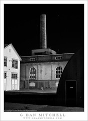 Mare Island Chimney and Buildings, Night | by G Dan Mitchell