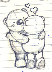 Bear Hug (sketch) | by Wedgienet.net - Illustration / Design
