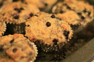Brown Sugar Blueberry Muffins | by Fluttering By