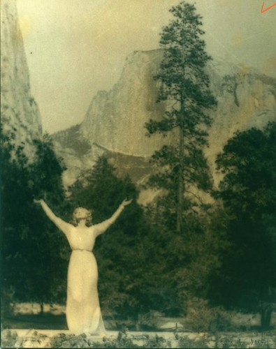 Ruth St. Denis at Yosemite Valley. | by New York Public Library