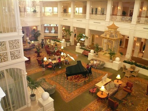 Walt Disney Grand Floridian Resort 2nd Floor Lobby