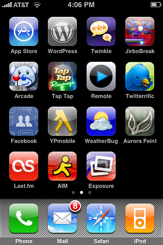 Iphone app screen i have the second home screen on my for Iphone picture apps free