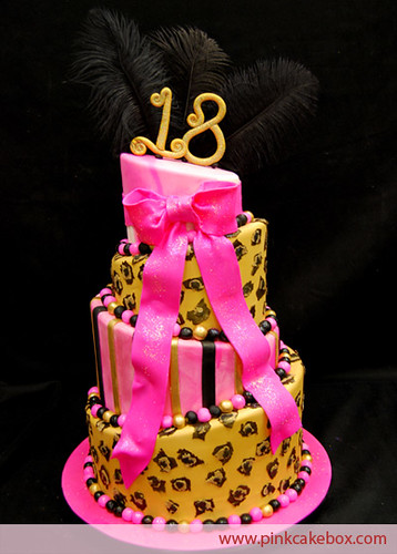 images of birthday and wedding cakes 18th birthday cake leopard print is back with this 4 16332