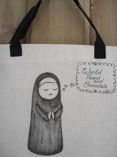 Chocolate Nun Mini Tote 1/4 | by Stitcher Scribbler