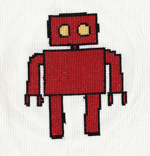 Robot Cross Stitch | by veen