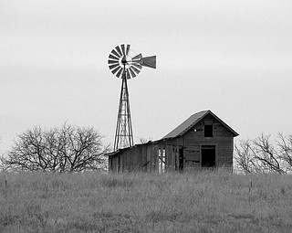 B&W Old Windmill and Barn | by Deb Slow right now