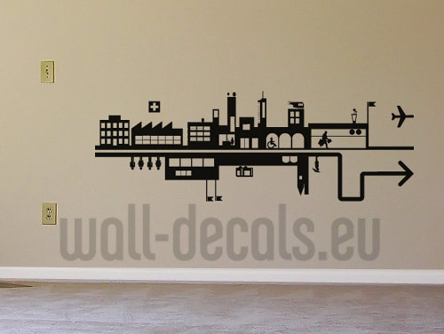 ... Urban City Wall Decal Sticker | By Wall Decals.europe