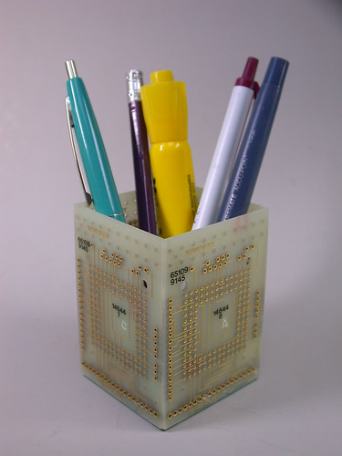 Recycled Circuit Board Pencil Holder Desk Organizer Geeker ...