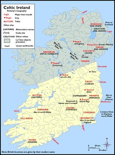 Ancient Ptolemys Map Of Ireland Scotia Major Hibernia Ive Flickr