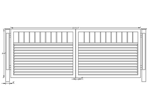 Aluminum or steel driveway gate design cad drawing flickr