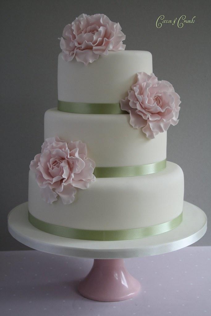 Pink Peony Wedding Cake 1st Proper Peonies Made For This Flickr - Peony Wedding Cake
