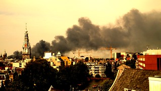 Big fire in Amsterdam North | by monyart