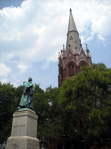 Luther Place Memorial Church and Martin Luther statue | by NCinDC