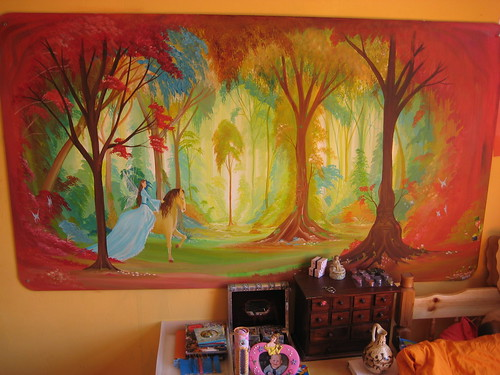 Childrens fairy and elf princess mural the mural was for Fairy princess wall mural