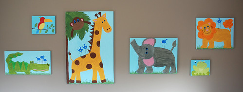 Jungle Animals Canvas Paintings | by Alanna George