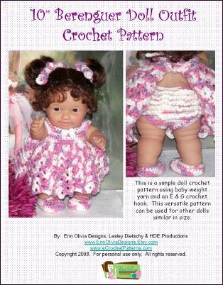 10 Inch Berenguer Doll Dress Crochet Pattern Erin Olivia Designs