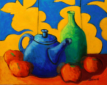 Still Life In Primary Secondary Colors