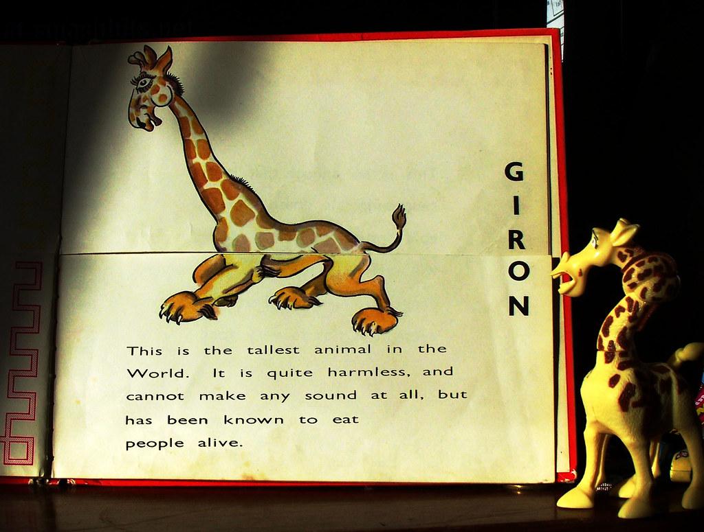 Giron (Giraffe Toy/ Joke) | Old childhood book of mine, and