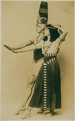 Ruth St. Denis and Ted Shawn in Egyptian Ballet. | by New York Public Library