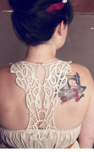 Dress Back Detail and Tattoo | by Smile And Wave