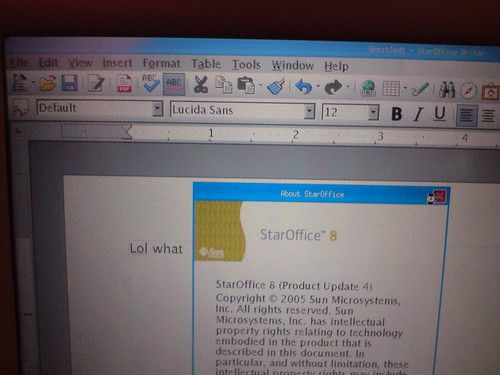 StarOffice running on the in-seat entertainment | by kalleboo