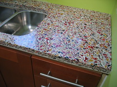 White Concrete Countertops Kitchen