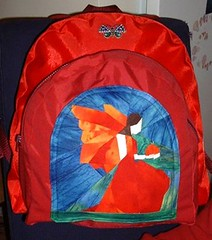 Maya's new backpack - front | by sonjaartisania