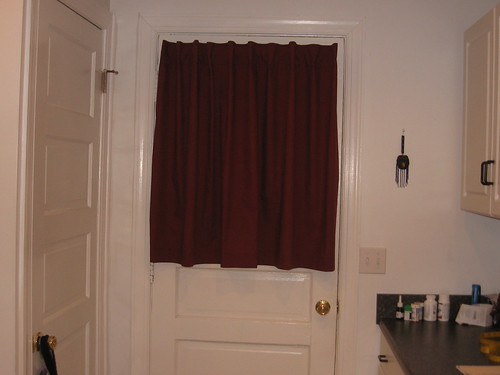 Kitchen curtains back door after only 16 months of for Kitchen back door