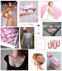 Pink & Grey / Gray Party Inspiration Board | by finestationery
