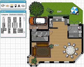 Progetta e arreda interni sul pc con planimetrie interatti for Case moderne planimetrie