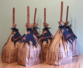 halloween broom treat bags | by sendmeyourbrains