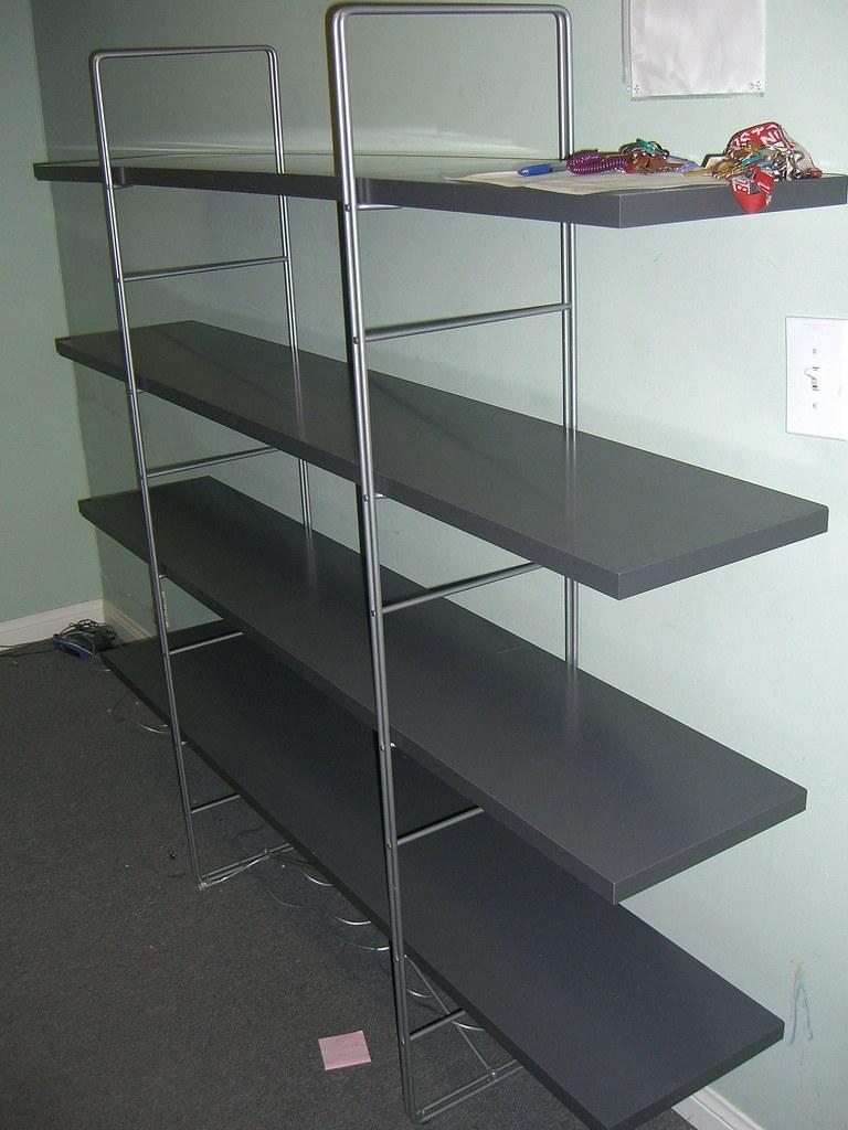Item E IKEA Enetri 4 Shelf Gray Bookshelves