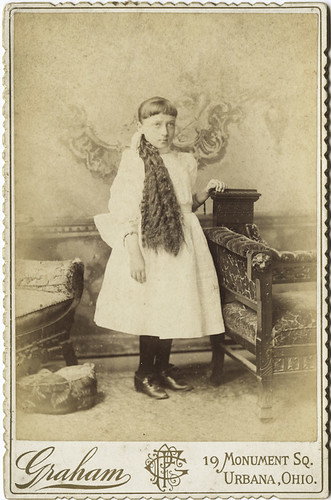 Cabinet Card Portrait of a Young Girl With Long Hair | by AtypicalArt