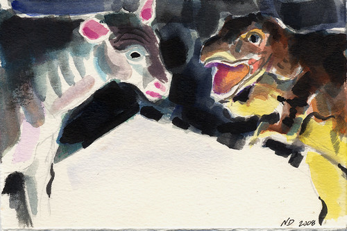 Dinosaur and Cow | by Nat D.