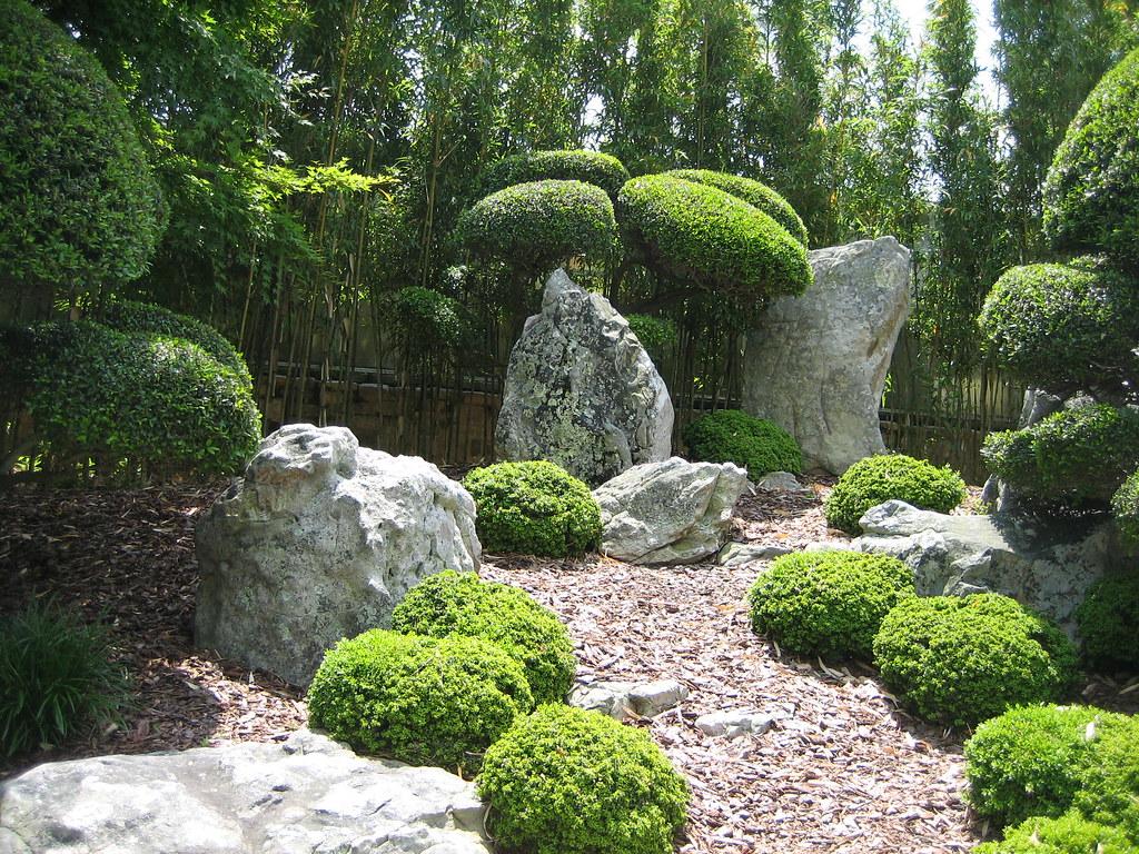 Rock Garden Area In The Japanese